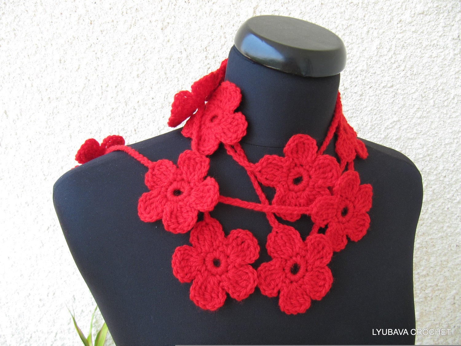 Crochet pattern flower scarf pattern crochet flower garland zoom bankloansurffo Images