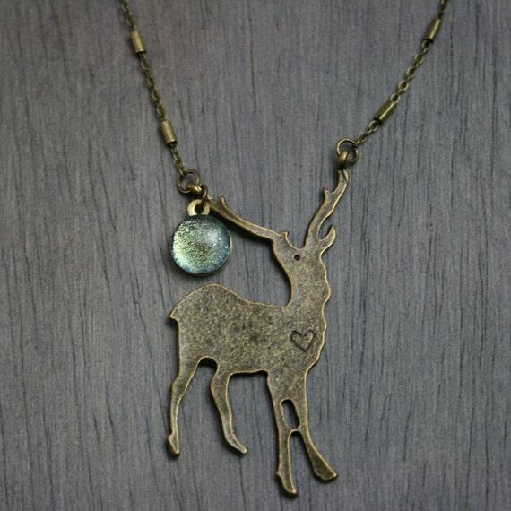 "Serenity ""Patronus"" Antique Bronze Necklace"