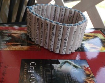 Made to order Mortal Instruments paper bead bracelet