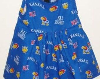 KU Kansas University Jayhawk toddler girls jumper sleeveless dress