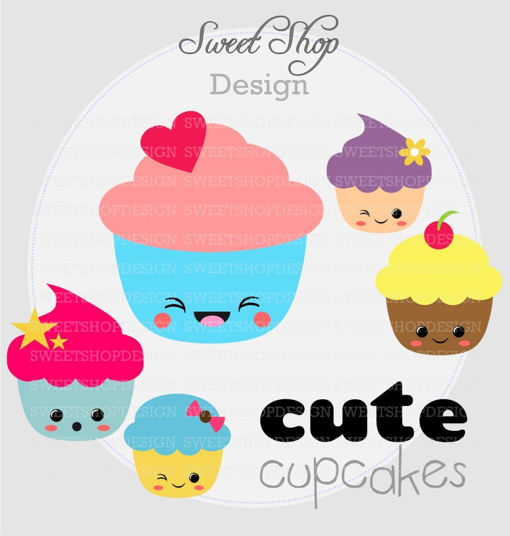 baby shower clip art birthday clip art digital clip art cute birthday cupcake clipart Cute Cupcake Drawings