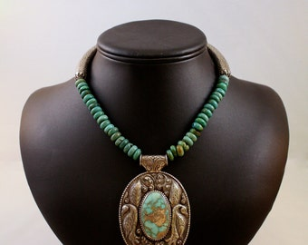 Final Sale! Turquoise with Statement Pendant