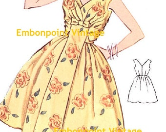 Plus Size (or any size) Vintage 1950s Dress Pattern - PDF - Pattern No 4: Susan