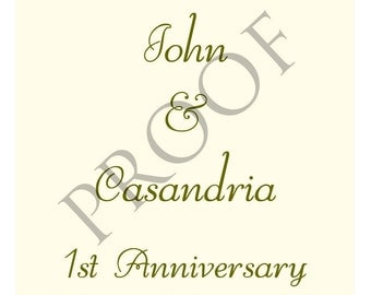 Elegant Flourish Wedding Wine Label or Digital File Table Numbers or Anniversary Signature Table