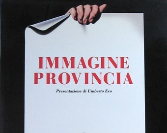Vintage Italian Poster Book - Immagine Provincia - Coffee Table Book - Graphic Design Book - Typography Art - Poster Art - Italian Art Book