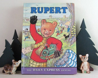 Rupert the Bear - The Daily Express Annual - Vintage Childrens Storybook - Activity Book - Vintage Rupert Annual 1972 1975 1976 1977