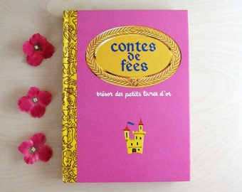 10 French Fairytales - Vintage Golden Book - Contes de Fees - French Childrens Book - Bedtime Storybook - French Language - Illustrated Book