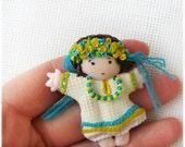 Brooch Little Ukrainian Girl - Little Bird