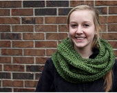 Cozy Cowl / Hood / Infinity Scarf, Olive Green