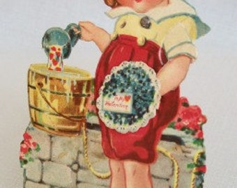 Antique Vintage Mechanical Valentine Greeting Card