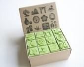 Rubber Stamp Scrapbook supply stamper, Sakura Japanese stamp, sarus crane, japanese dolls, high quality stamper , 12 stamps