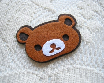 Iron on Applique Happy Brown Bear, Teddy Bear Patches, kid, baby, toys, man, woman, bag decoration, shirt, skirt , Baby shower, Sew,  B6