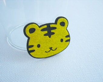 Felt applique Iron on Applique Little Yellow Black Tiger ,kid, baby, toys, man, woman, bag decoration, shirt, skirt ,