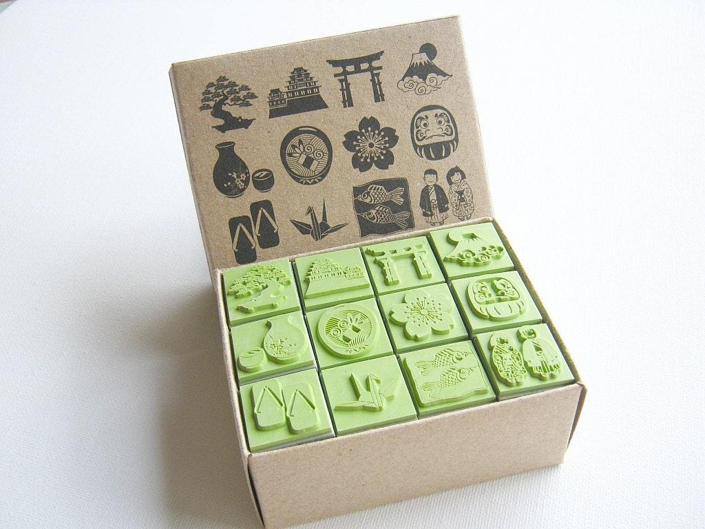 Rubber Stamp Scrapbook Supply Stamper Sakura Japanese
