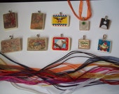Holiday Pack- Choice of 5 handcrafted Scrabble Tile and Game Piece Necklaces