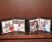 PERSONALIZED Family Name Signs Photo Blocks - Custom Family Name Decorations - SET of 8 Blocks