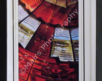 Red & White Oregon Lighthouse,Birthday Card, Father's Day Card, All Occasion, Blank Greeting Card, Photo Card
