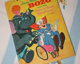 Bozo and the Hide n' Seek Elephant 1968 Whitman BIG Tell-A-Tale