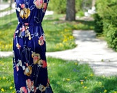 Don't Be Koi // Vintage // 1970s // Maxi Dress // Asian Floral // Matching Jacket