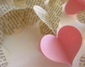 Heart Garland-Gothic Print-Pale Pink-Hearts-3D Garland-Crib Mobile-Kids-Baby-Nursery Decor-Wedding-Decoration-Baby Shower-Baby Mobile