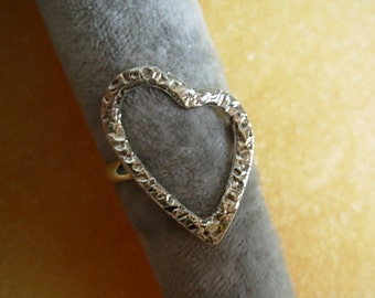 Heart ring ( .925 sterling silver )
