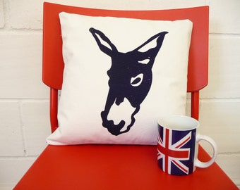Blue or Red Donkey Cushions