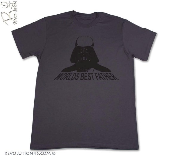 Darth Vader T-Shirt - Worlds Best Father - Men's/New Dad Graphic T-Shirt