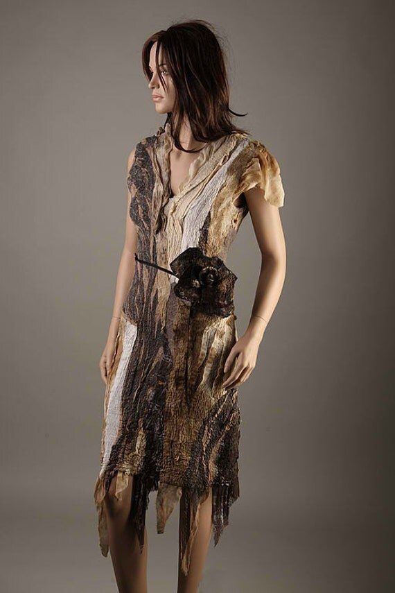 """Dress pattern for felting """"Tobacco Fall"""" with Instructions"""