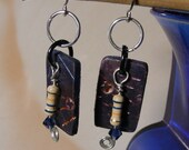 Handmade polymer clay & electronic resistor earrings.