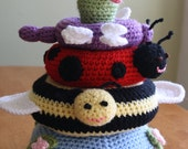 Pond Friends crocheted toy ring stacker Amigurumi Made to Order