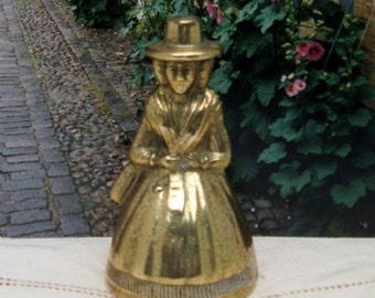 Vintage Brass Figurine Bell