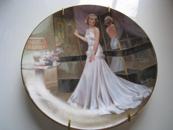 Collectible Vintage Decorative Plate - Carole Lombard in The Gay Bride by Artist Erik Dzenis