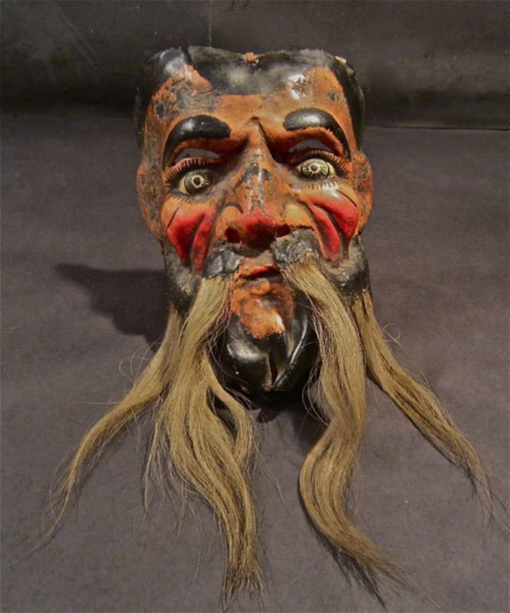 Guerrero State Old Man's Antique Dance Mask