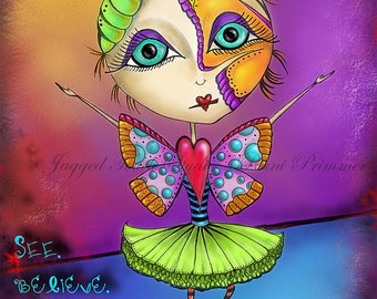 "Title: ""Transform""  Inspirational and colorful Art Print"
