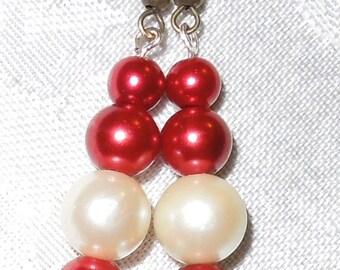 My Heart's a Fire Pearl Earrings   Item #1033