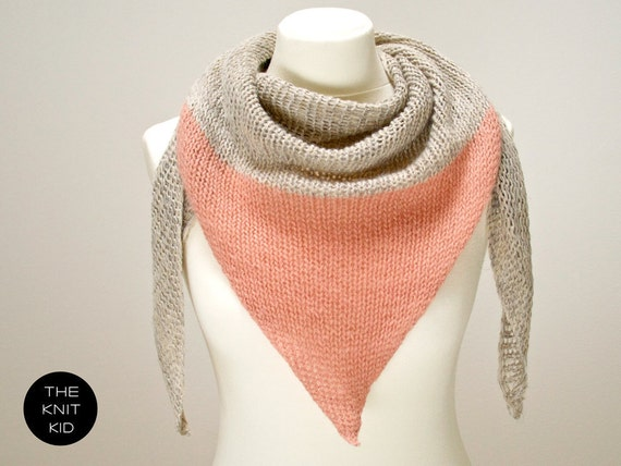 triangle scarf merino angora mohair birch dusty rose theknitkid the knit kid wool scarf knitted scarf