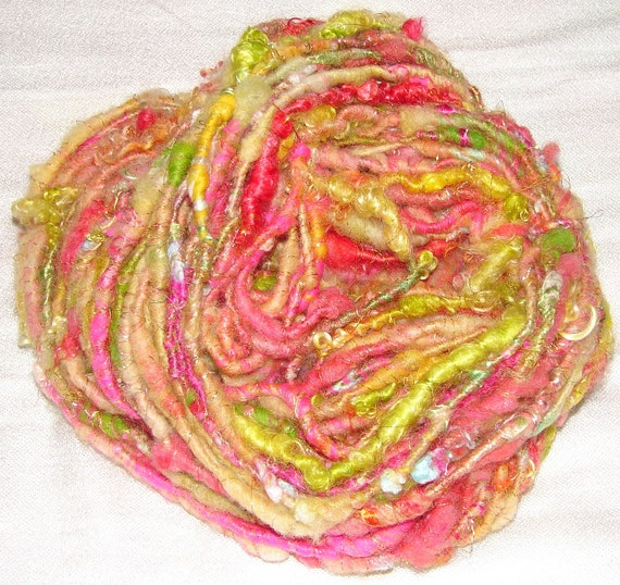 Handspun Bulky Art Yarn- Fruit Salad