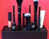 METALLIC Black- Handmade Wooden Makeup Brush Holder & Bathroom Organizer