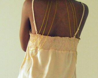 Gold Choker Body Chain, chain body harness, cross body chain, waist chain, gold body chain, harness body chain, handmade bodychain