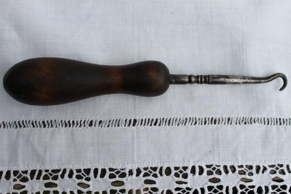 RESERVED for FERNEY -   Antique Button/Shoe Hook Victorian Era Needle work Tool 1900's