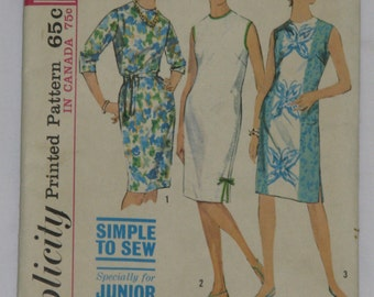1960's (1963) Shift / Sheath Dress Pattern - 32 Inch Bust