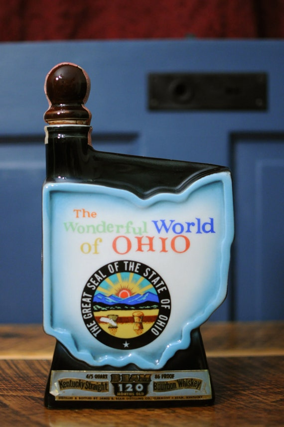 "Jim Beam Decanter ""The Wonderful World of Ohio"""
