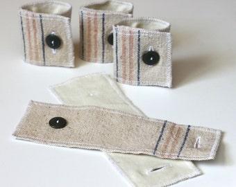 grain sack fabric napkin rings // vintage napkin rings // rustic napkin rings // picnic napkin rings // cloth napkin rings // housewarming
