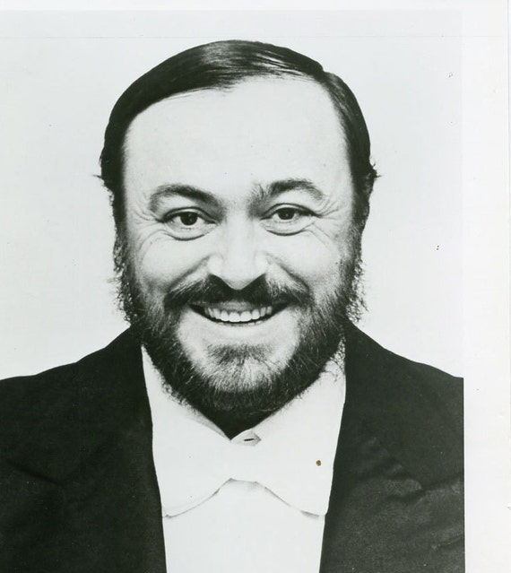 LUCIANO PAVAROTTI Publicity PHOTOGRAPH... Ah...Luciano...How We Miss You....