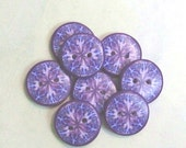 Purple Round Sewing Buttons 8