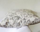 Pillow cover beige children - decorative covers - throw pillows - shams 16x16   0170