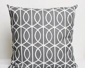 Designer Pillow Cover - 16x16 - Dwell Studio grey  0206