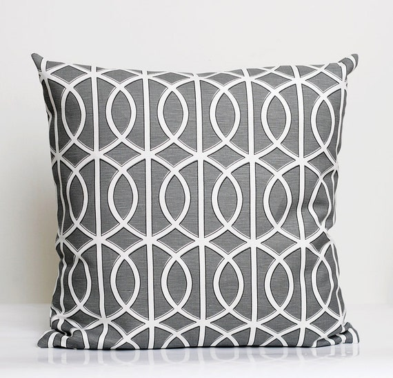Designer Pillow Cover - 16x16 - Dwell Studio grey  0206