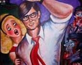 Fright Night- Zombie painting SALE