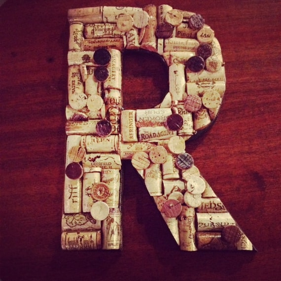 Hand Crafted Wine Cork Letters (Made to Order)